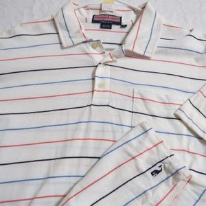 Sz M White VINEYARD VINES Mens Cotton #142 Polo